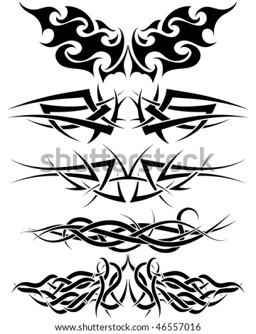 stock vector Patterns of tribal tattoo for design use