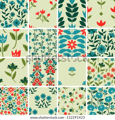 patterns set with floral
