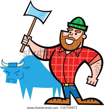 vector images illustrations and cliparts paul bunyan hqvectors com rh hqvectors com Paul Bunyan Online Story Paul Bunyan Day 2013