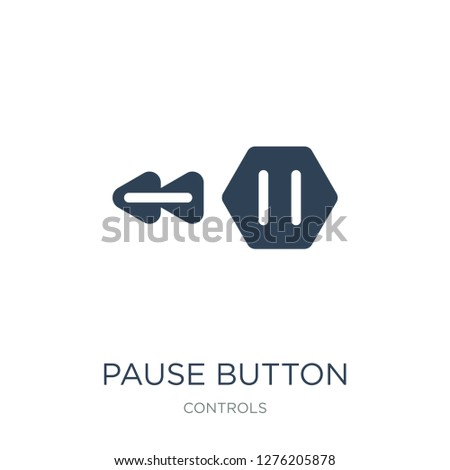 pause button icon vector on white background, pause button trendy filled icons from Controls collection, pause button vector illustration