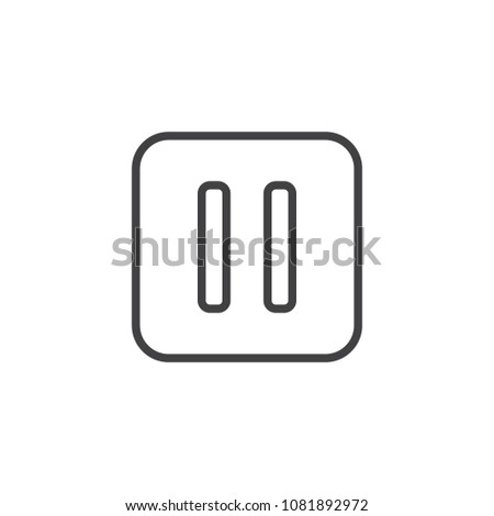 Pause button outline icon. linear style sign for mobile concept and web design. Music pause simple line vector icon. Symbol, logo illustration. Pixel perfect vector graphics