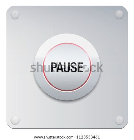 pause button to stop music