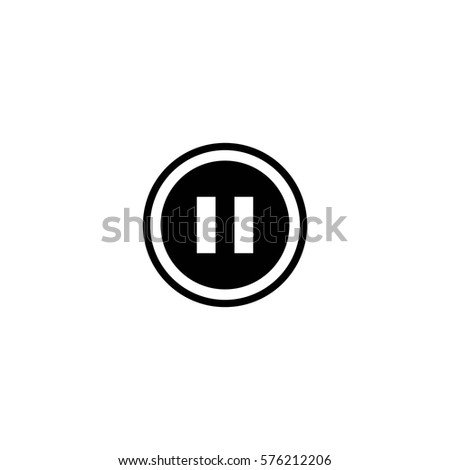 pause button vector icon