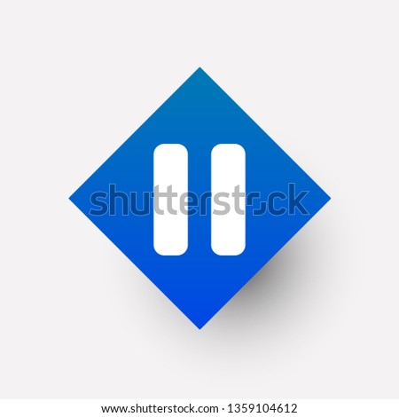 Pause icon in trendy flat style isolated on background. Pause icon page symbol for your web site design Pause icon logo, app, UI , on white background Vector.