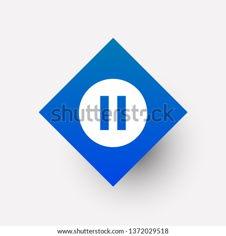 pause icon in trendy flat style isolated on background. pause icon page symbol for your web site design pause icon logo, app, UI , on white background Vector. - Vector