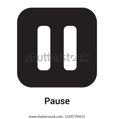 Pause icon vector isolated on white background for your web and mobile app design, Pause logo concept