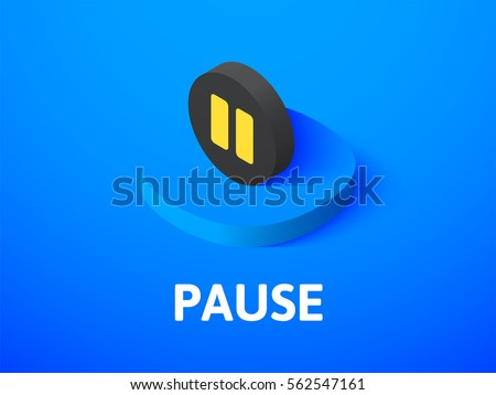 pause icon  vector symbol in
