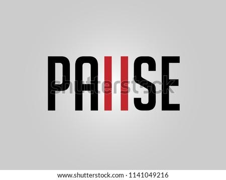 Pause, Pause Logotype, Pause Concept