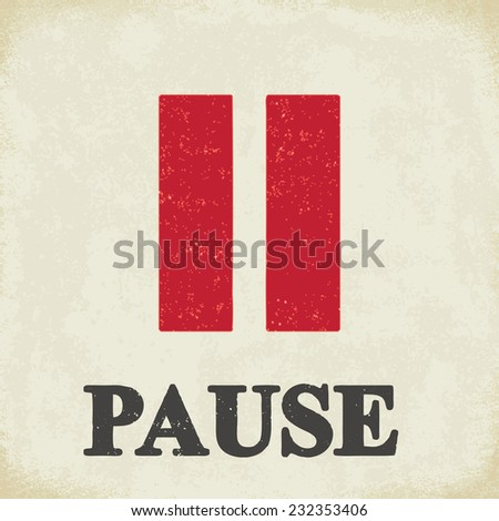 pause sign   conceptual vector
