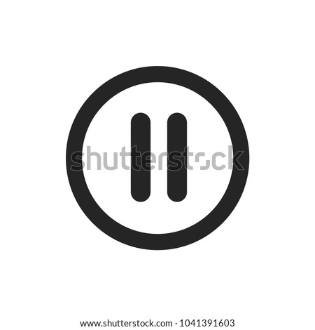 Pause vector icon