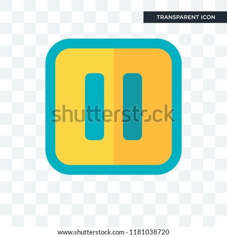 Pause vector icon isolated on transparent background, Pause logo concept