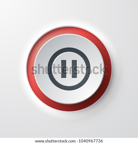 Pause web icon push button