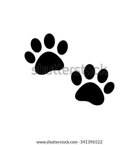 paw  - black vector icon
