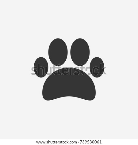 Paw icon illustration isolated vector sign symbol
