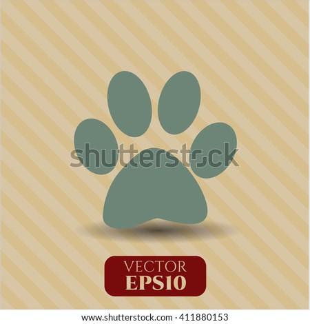 Paw icon or symbol
