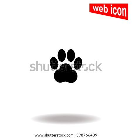 paw icon paw icon vector paw