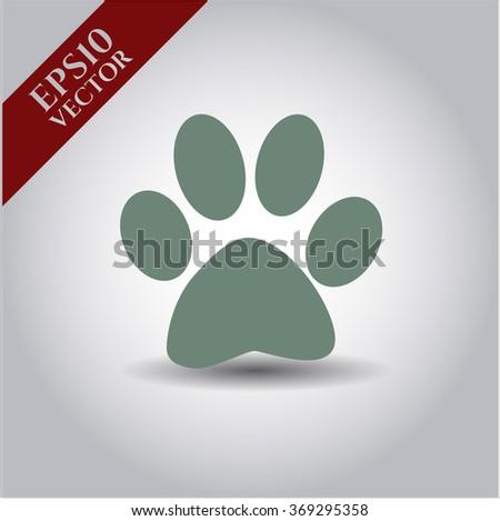 Paw icon vector illustration