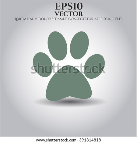 Paw icon vector illustration