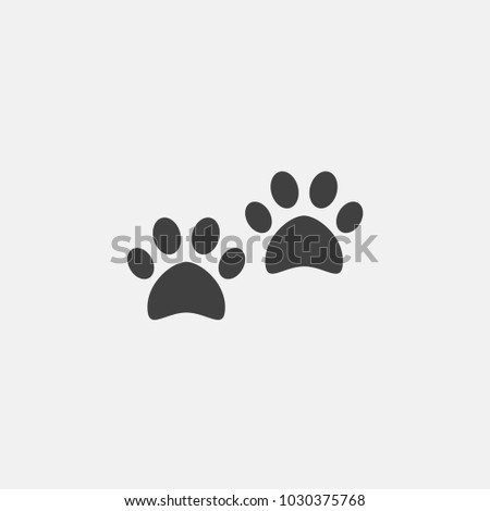 paw icon vector illustration. foot print icon vector.