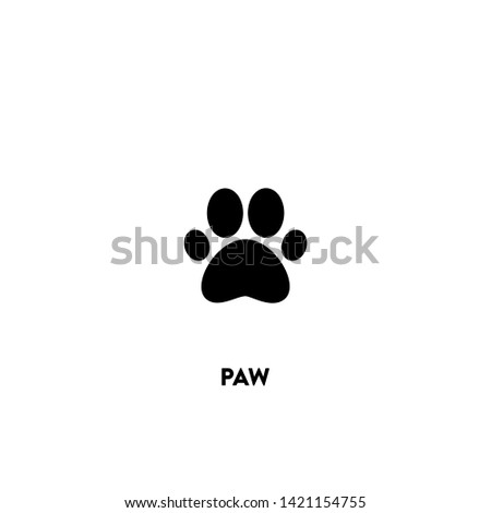 paw icon vector. paw sign on white background. paw icon for web and app