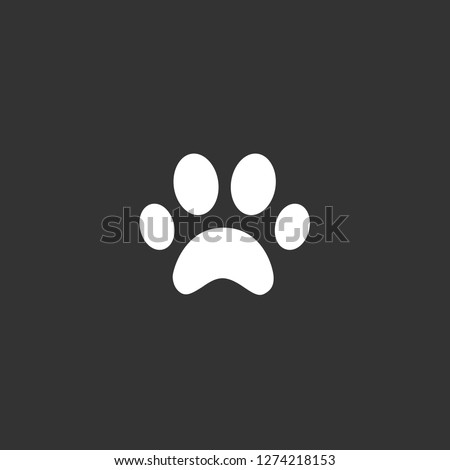 paw icon vector. paw vector graphic illustration