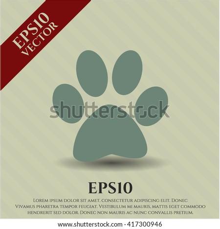 paw icon vector symbol flat eps jpg app web concept website