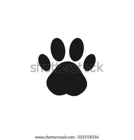 paw print flat design style