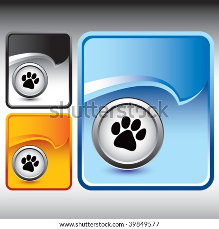 paw print icon on multicolored rip curl backgrounds