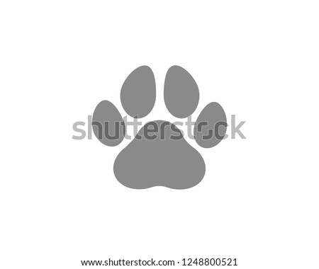 Paw Print icon symbol Vector
