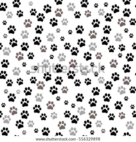 paw print seamless. traces of...