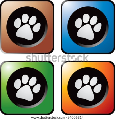 paw print square web buttons