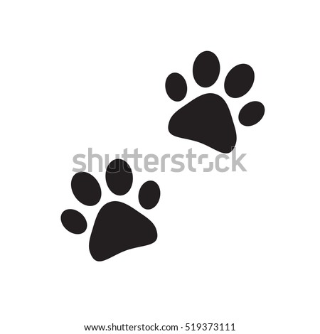 Paw print vector isolated