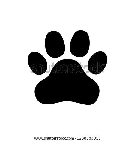 Paw Prints. Logo. Vector Illustration. Isolated vector Illustration. Black on White background.