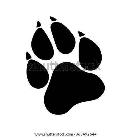 paw prints logo vector