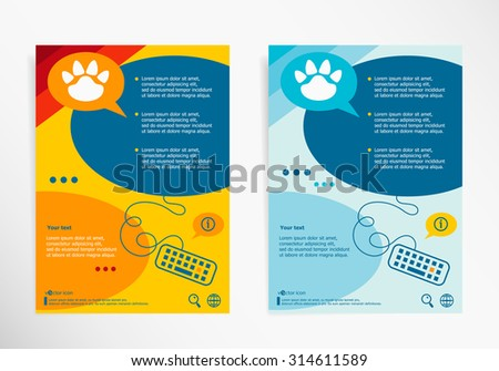 paw symbol on abstract vector