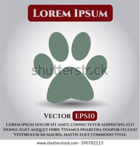 Paw vector icon