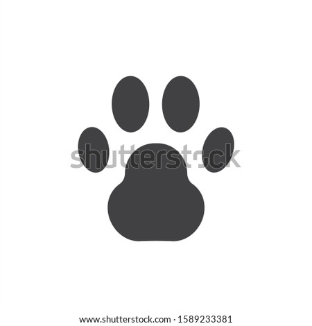Paw vector icon. Animal paw icon. Dog and cat paw sign. Paw print symbol. Pet concept pictogram. EPS 10