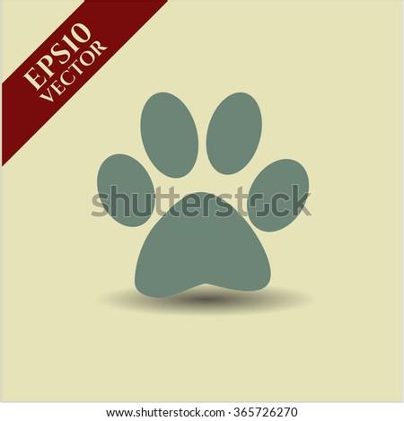 Paw vector icon or symbol