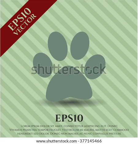 Paw vector icon or symbol
