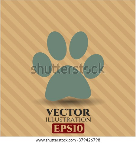 Paw vector symbol