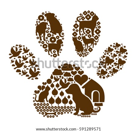 paw with pattern