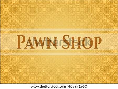 Pawn Shop colorful card