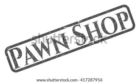 Pawn Shop emblem draw with pencil effect
