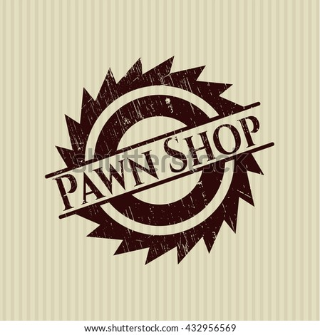 Pawn Shop rubber grunge texture seal