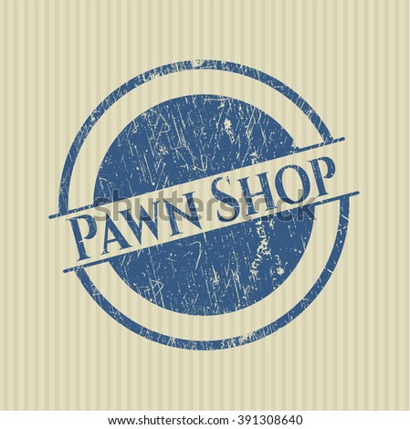 Pawn Shop rubber stamp with grunge texture