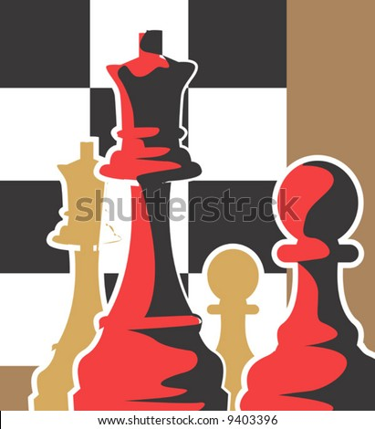 pawns with chess board
