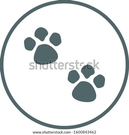 Paws icon. Paws symbol. Vector illustration