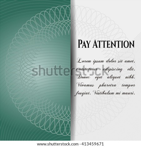Pay Attention colorful banner