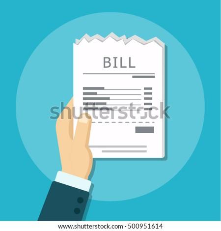 Pay bill. flat design