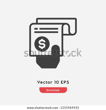 Pay bills icon vector. Pay bills symbol. Linear style sign for mobile concept and web design. Pay bills symbol illustration. Pixel vector graphics - Vector.